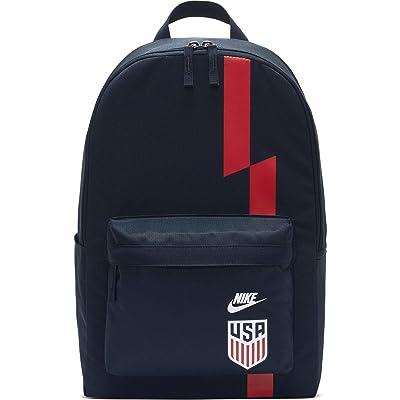 Nike USA Stadium Backpack (Dark Obsidian/White/Speed Red/White) Backpack Bags
