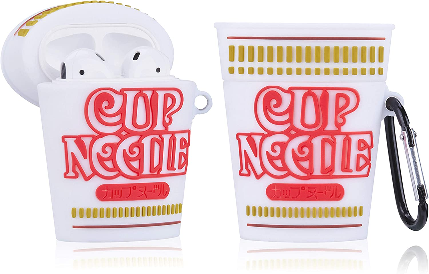Besoar Cup Noodles for Airpod 1/2 Case, Cartoon Cute Fashion Cool Soft Silicone 3D Design Cover for Airpods, Food Unique Stylish Kawaii Funny Fun Trendy Shell Girls Women Girly Boys Cases Air Pods 2&1