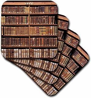 3dRose France, Corsica, Books, Ajaccio Municipal Library - Eu09 Ssm0025 - Scott T. Smith - Soft Coasters, Set of 4 (CST_81697_1)