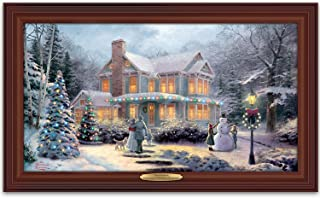 Thomas Kinkade Victorian Family Christmas Illuminated Canvas Print Wall Decor by The Bradford Exchange