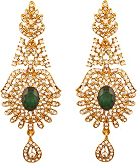 Indian Bollywood curved fish Austrian crystals jewelry earrings for women