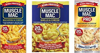 Sponsored Ad - Muscle Mac, Macaroni & Cheese Carton or Box SAMPLE Pack; 2 Box of Original 6.75 Oz., 2 Box of Shells & Chee...
