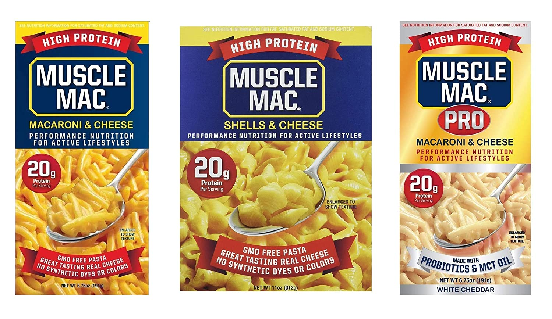 Muscle Mac Macaroni Dedication Cheese Carton or Pack; o SAMPLE 2 Box Ranking TOP18