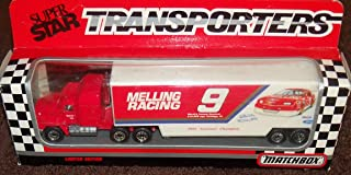 Super Star Transporters Melling Racing # 9 Nascar Die-cast Truck Matchbox 1990