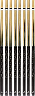 Set of 8 Mizerak Two-Piece Pool Cues Billiards Sticks