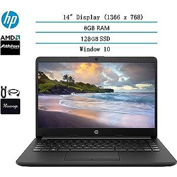 2020 HP 14 inch HD Laptop Newest for Business and Student, AMD Athlon Silver 3050U (Beat i5-7200U), 8GB DDR4 RAM, 128GB SSD, 802.11ac, WiFi, Bluetooth, HDMI, Windows 10 w/HESVAP 3in1 Accessories