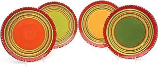Certified International Hot Tamale Dinner Plate, Set of 4 Assorted Designs