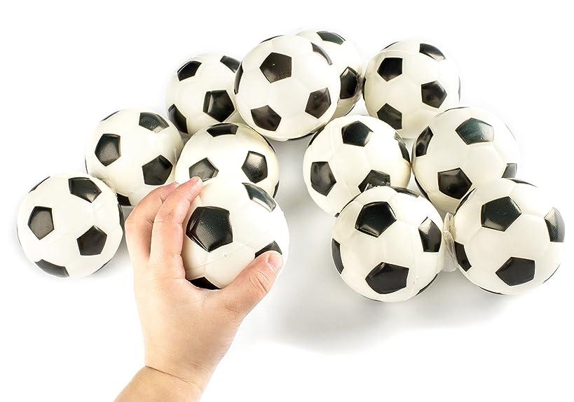 Soccer Sports Stress Balls Bulk Pack of 12 Relaxable 2
