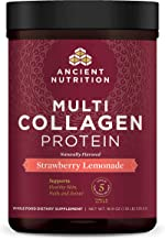 Ancient Nutrition Multi Collagen Protein Powder, Strawberry Lemonade, Formulated by Dr...