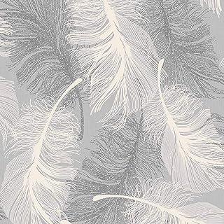 CWV Wallcoverings M0923 Papel pintado, Gris y blanco, Full Roll