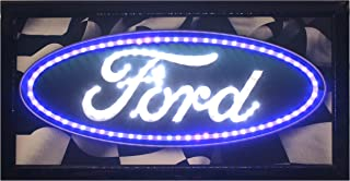 Crystal Art - Ford Logo Framed Flashing LED Sign