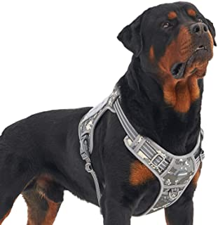 Auroth Tactical Dog Training Harness No Pulling Front Clip Leash Adhesion Reflective K9 Pet Working Vest Easy Control for ...