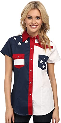 Roper - Americana Pieced Color Block Top