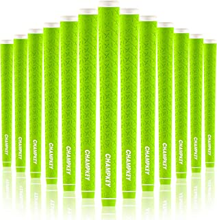 Champkey X-LITE Rubber Golf Grips Set of 13(Free 15 Tapes Included) - High Feedback Rubber Golf Club Grips Ideal for Clubs Wedges Drivers Irons Hybrids