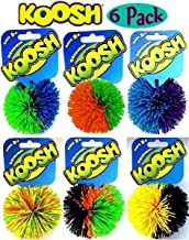 6 Pack, Colors May Vary, Safe to Throw, Easy to Catch Koosh Balls