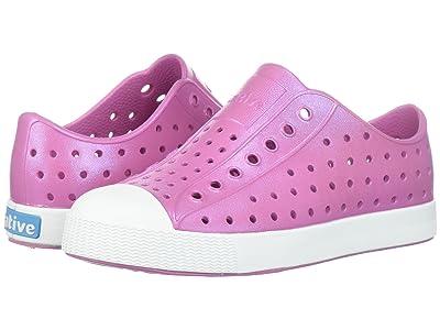 Native Kids Shoes Jefferson Iridescent (Little Kid) (Malibu Pink/Shell White/Galaxy) Girls Shoes