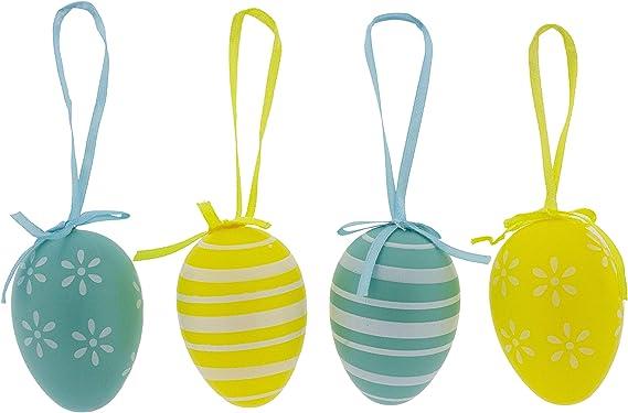 Ostereier Eier Ei Ostern gestreift gepunktet Stück 12 oder 24 Kunststoff Deko