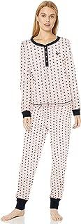 Women's Thermal Long Sleeve Ski Pajama Set Pj