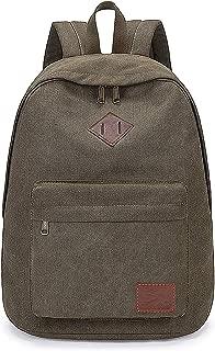 Canvas Backpack Weekend Vocation Bag Outdoor Traveling Racksack College DayPack Men Boy Military