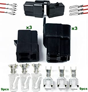 Delphi Metri-Pack 56 Series 3-Conductor Connector w/12-10 AWG Male and Female Terminal (Pack of 3 Set)