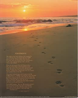 Impact Posters Gallery Footprints Poster in The Sand Motivational Wall Decor Art Print (16x20)