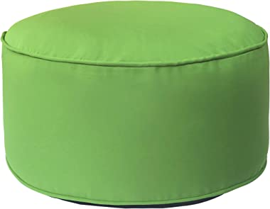 Art Leon Outdoor Inflatable Ottoman Green Round Patio Footstool for Kids and Adults, Patio, Deck, Front Porch, Backyard, Gard