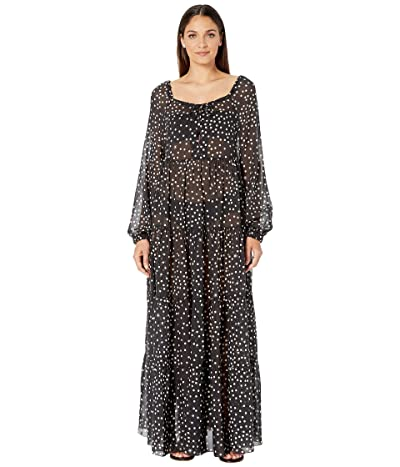 Stella McCartney Polka Dot Print Swim Long Dress (Black/Cream) Women