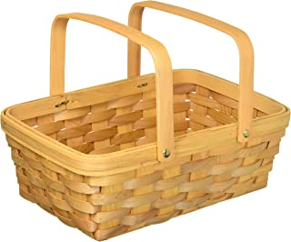 Darice 12.5 inch, Wood Country Basket with Moveable Handles