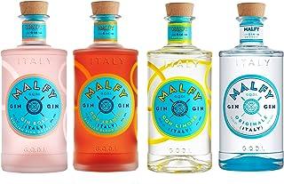 Malfy Range Set, Originale  Con Limone  Rosa  Con Arancia, italienischer Gin, Alkohol, 4 x 700 ml
