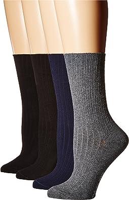 Rib Dress Socks 4-Pack