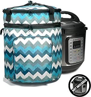 Helpful Household Carrying Bag Compatible With Instant Pot (6 Qt), Travel Tote Bag For 6qt Pressure Cookers and Accessories, Colorful Pressure Cooker Bag, Beautiful Carry Bag