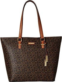 d2b5aa8fbaa8 Calvin Klein. Signature Crossbody. $69.99MSRP: $138.00. New.  Brown/Khaki/Luggage