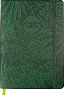 Passion Planner Medium Dated Jan-Dec 2020 - Goal Oriented Weekly Agenda, Reflection Journal (B5-6.9 x 9.8 in) Monday Start (Forest Green)