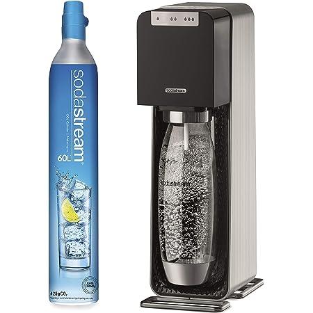 SodaStream Machine à Eau Pétillante et Soda Source Power, Fonctionnement Électrique, Couleur : Noir, Boîtier et Corps en Métal