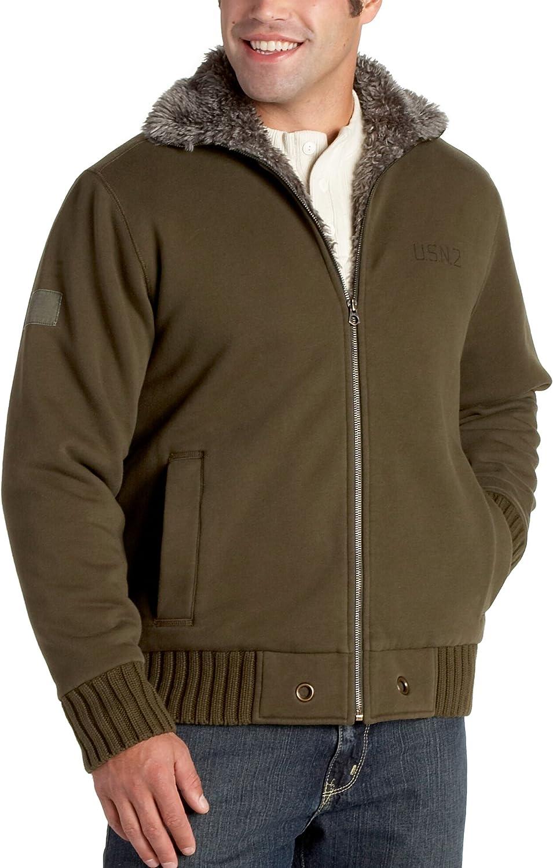 Nautica Jeans Men's Full Zip Fleece Jacket, Trench Green