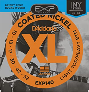 DAddario EXP140 Coated Electric Guitar Strings, Light Top/Heavy Bottom, ...