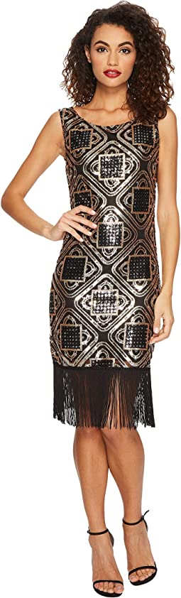Unique Vintage - Sequin Fringe Flapper Dress