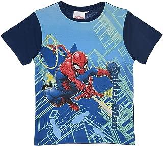 BOYS Nuovo Ufficiale Spiderman cotone estivo manica corta T Shirt Top Età 3-9 Anni