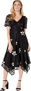 Taylor Dresses Women's Short Sleeve Embroidered Lace Dress