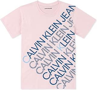 Calvin Klein Boys' Big Crew Neck Tee Shirt