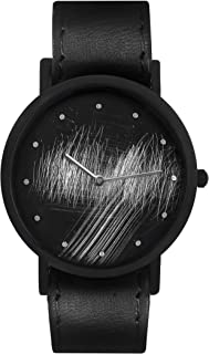 South Lane Swiss Quartz Stainless Steel and Leather Casual Watch, Color:Black (Model: core-SL-33)