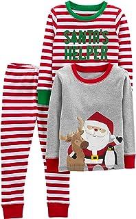Simple Joys by Carter's Juego de Pijama de Navidad de algodón de 3 Piezas Conjunto de Pijama para niños Unisex