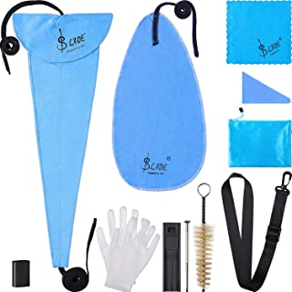 Boao 11 in 1 Saxophone Cleaning Care Kit for Clarinet, Flute and Wind Instrument, Include Storage Bag, Thumb Rest, Cleaning Cloth, Gloves, Mouthpiece Brush, Mini Screwdriver, Strap and Reed Case