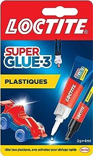 Loctite Super Glue-3 Spécial plastiques, colle forte pour tout plastique, colle transparente à séchage immédiat, tube de c...