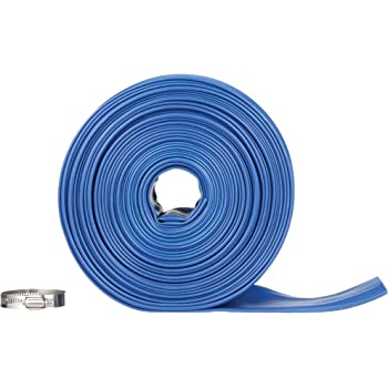 "Blue Devil 75-Foot Backwash Hose for Pool with Hose Clamp, 2"" W x 75' L"