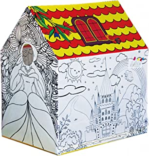 DIY Creations Play Tent Coloring Princess Castle Creative Drawing Girl Cubby Pop Up Indoor Outdoor House Party