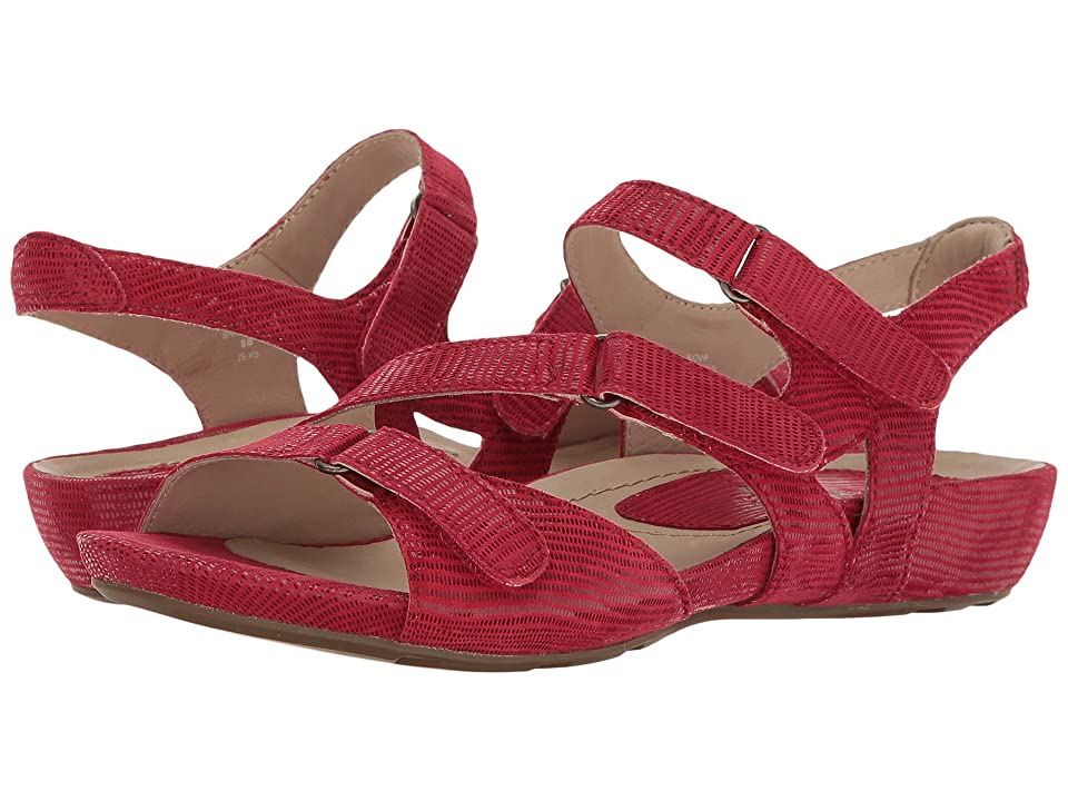 Earth Nova Earthies (Bright Red Printed Suede) Women