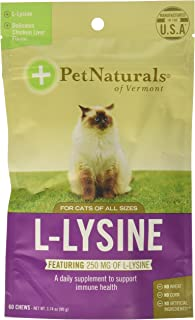Pet Naturals of Vermont Lysine FunShaped Chews for Cats 120 count, 250mg