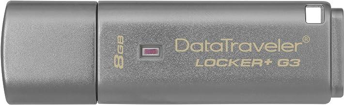 KingstonDTLPG3/8GB Data Traveler Locker + G3 - Memoria USB 3.0 (protección de datos personales, copia de seguridad automática en la nube)