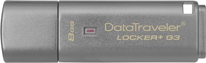 Kingston Digital 8GB Data Traveler Locker + G3, USB 3.0 with Personal Data Security & Automatic Cloud Backup